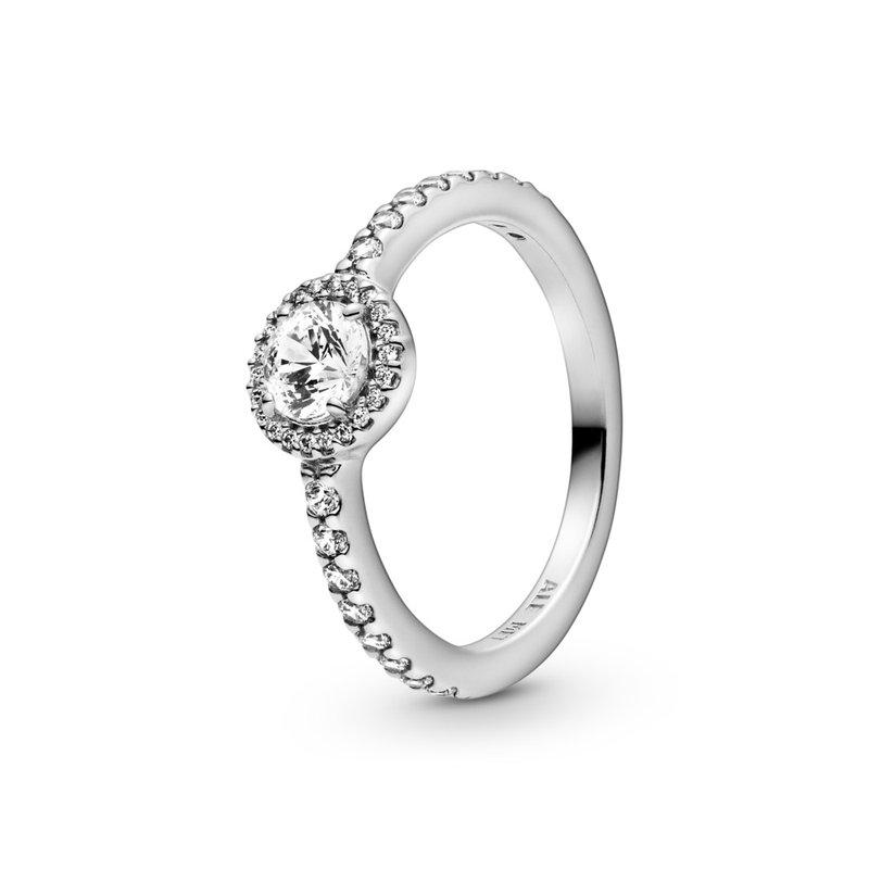 Pandora Classic Sparkle Halo Ring, size 9.0