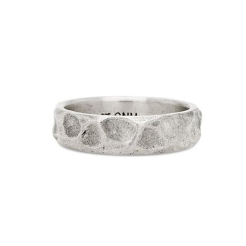 Sterling Silver Hammered Sterling Silver Ring