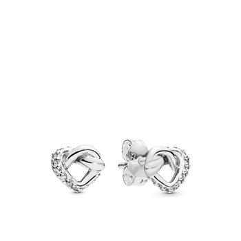 Knotted Heart Stud Earrings