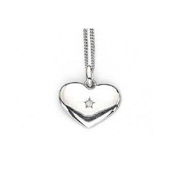 """Solid Heart"" Diamond Pendant"