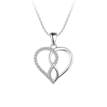 Silver Heart & Infinity Pendant