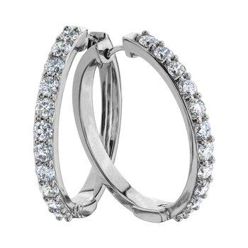 10K Diamond Hoops, 1.00 TDW