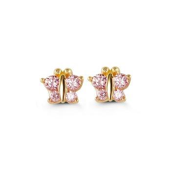 14KY Baby Butterfly Earrings