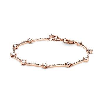 "Sparkling Pavé Bars Bracelet, 7.9"""