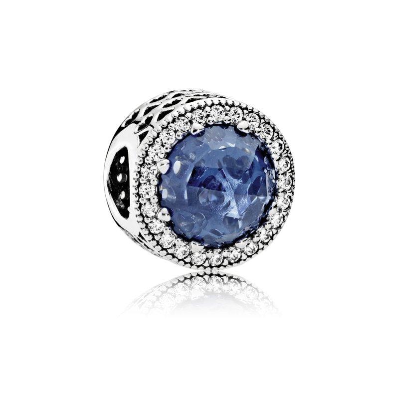 Pandora Sparkling Dark Blue Charm