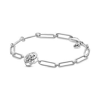 """Rose Petals Link Bracelet, 6.3"""""""
