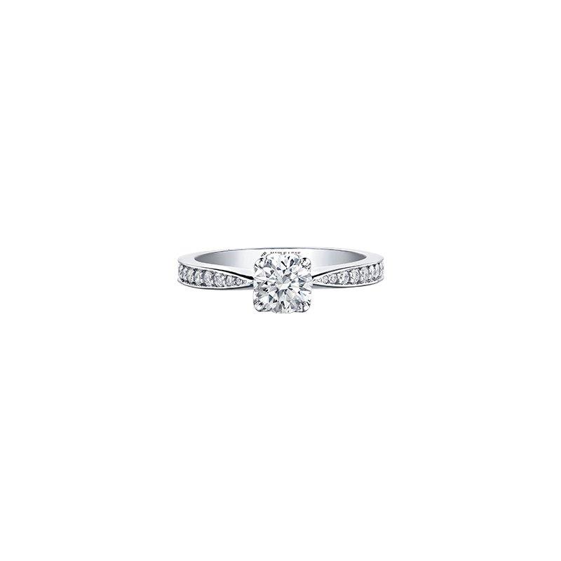 Maple Leaf Diamonds 18K Engagement Ring, 0.78 TDW