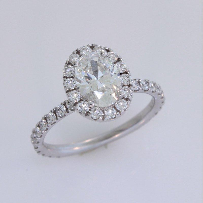 Payne Anthony Jewelers Oval Diamond Halo in 18 Karat White Gold