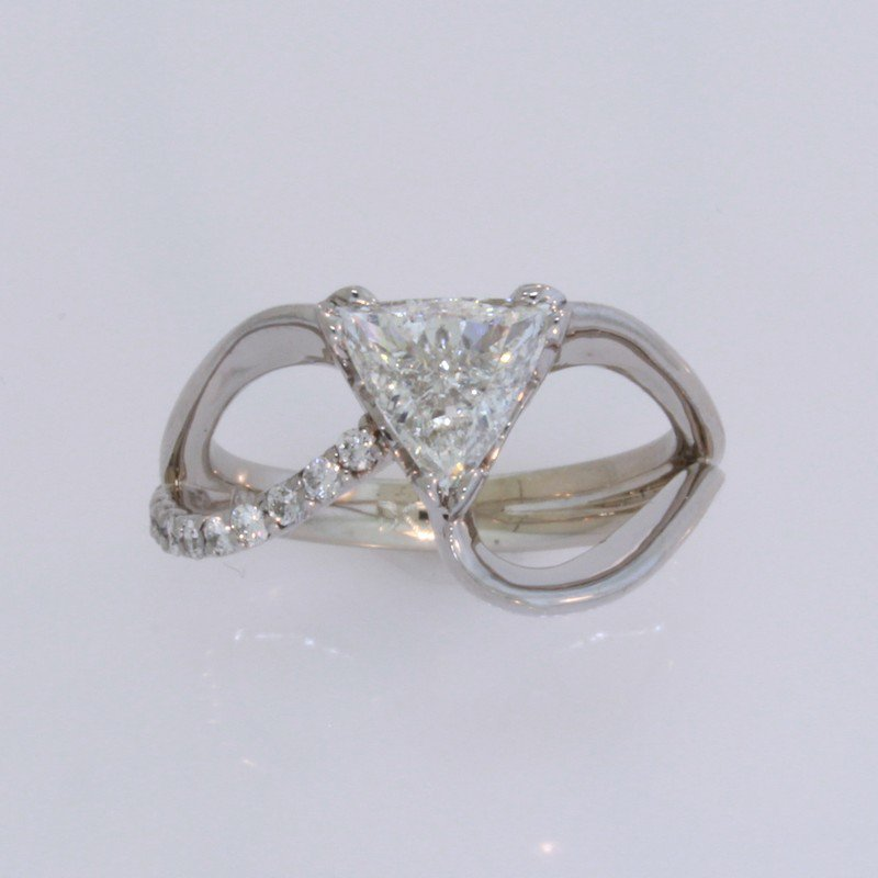 Payne Anthony Jewelers Flowing Trillion Cut Engagement Ring