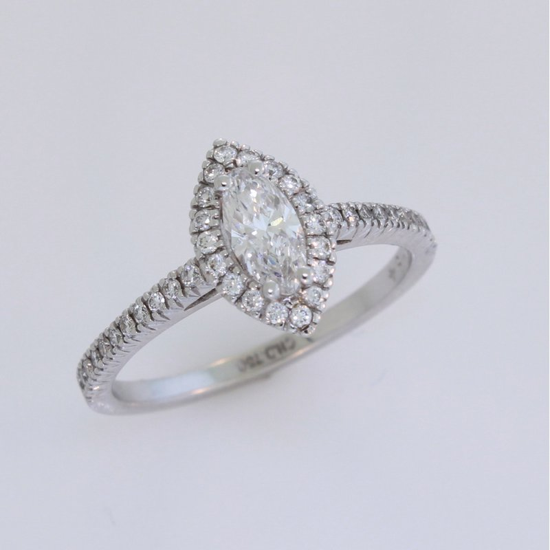 Christopher Designs Marquise Diamond Ring.