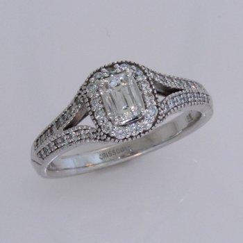 Crisscut Split Shank Diamond Ring