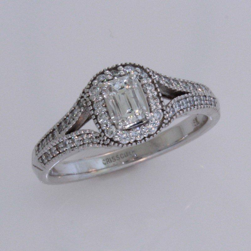 Christopher Designs Crisscut Split Shank Diamond Ring