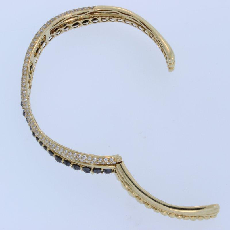 Etho Maria Rose Gold Black Diamond Bracelet