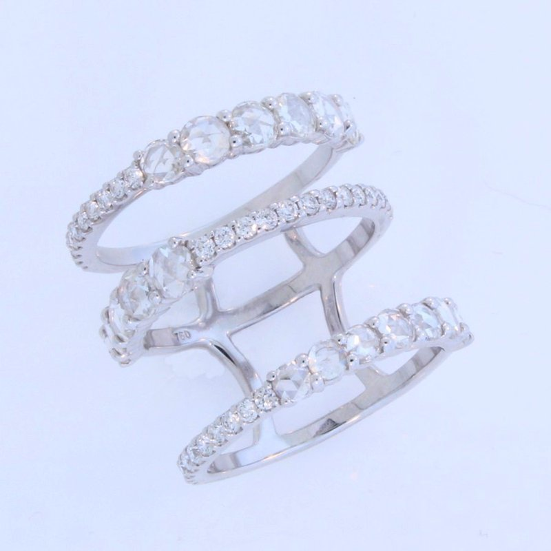 Etho Maria 3 Rows Joined 2Carat total Ring