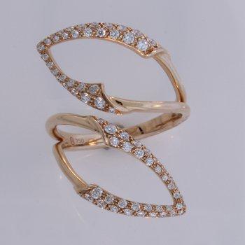 Open Leaf Diamond Ring
