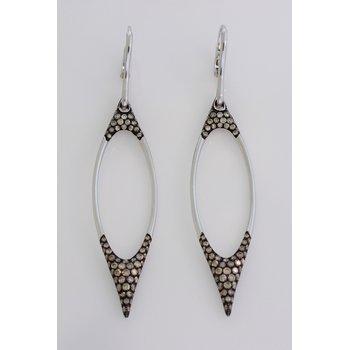 Large Open Diamond Dangle Earrings