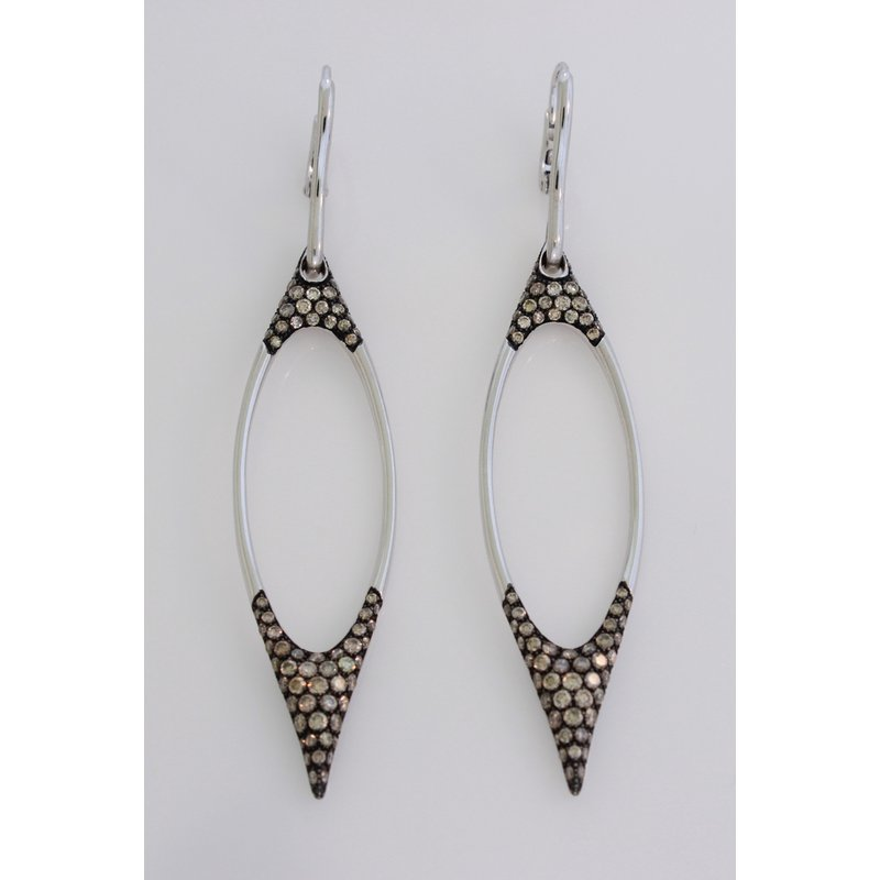 Etho Maria Large Open Diamond Dangle Earrings