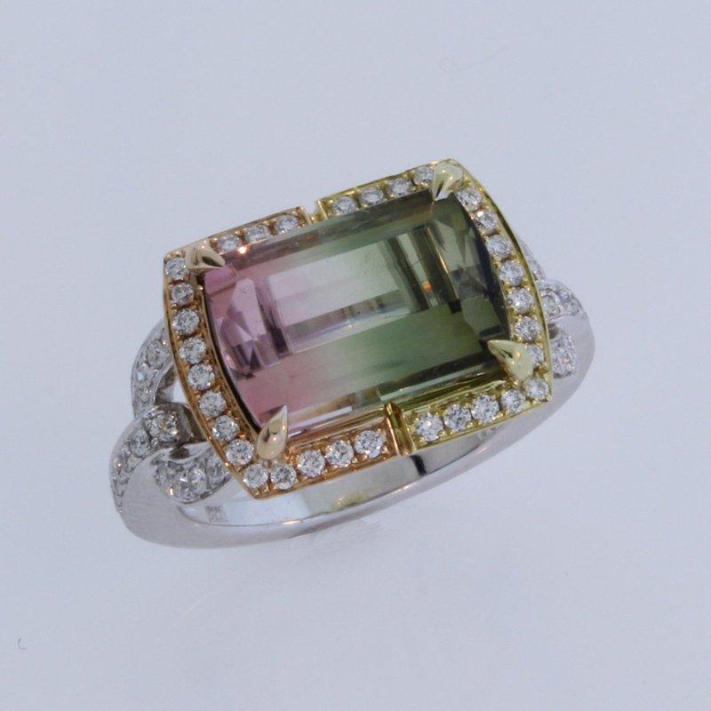 Frederic Sage Bi-Color Tourmaline Ring