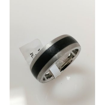 Vitalium Band with black ceramic inlay
