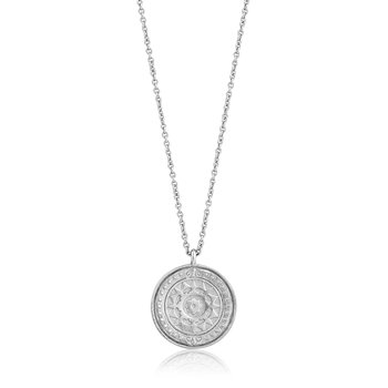 Silver Verginia Sun Necklace