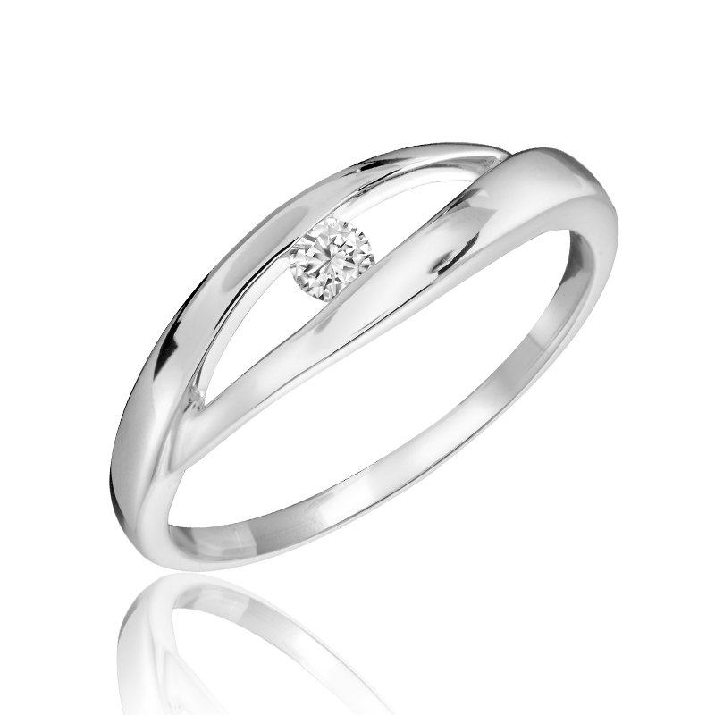 Showcase Collection 10KW Ring with Diamond Accent