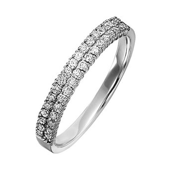 Diamond Band Ring in 14K White Gold 0.50 ctw LRD0262