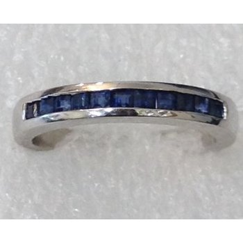 14KW Channel Set Sapphire Ring