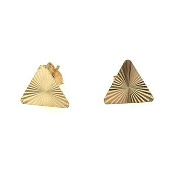 10KY Starburst Triangle Earrings