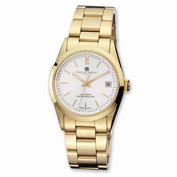 IP Gold Plates Stainless steel white dial watch