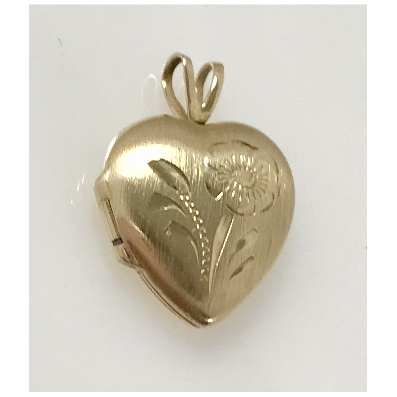 Estate Specials Engraved Heart Locket