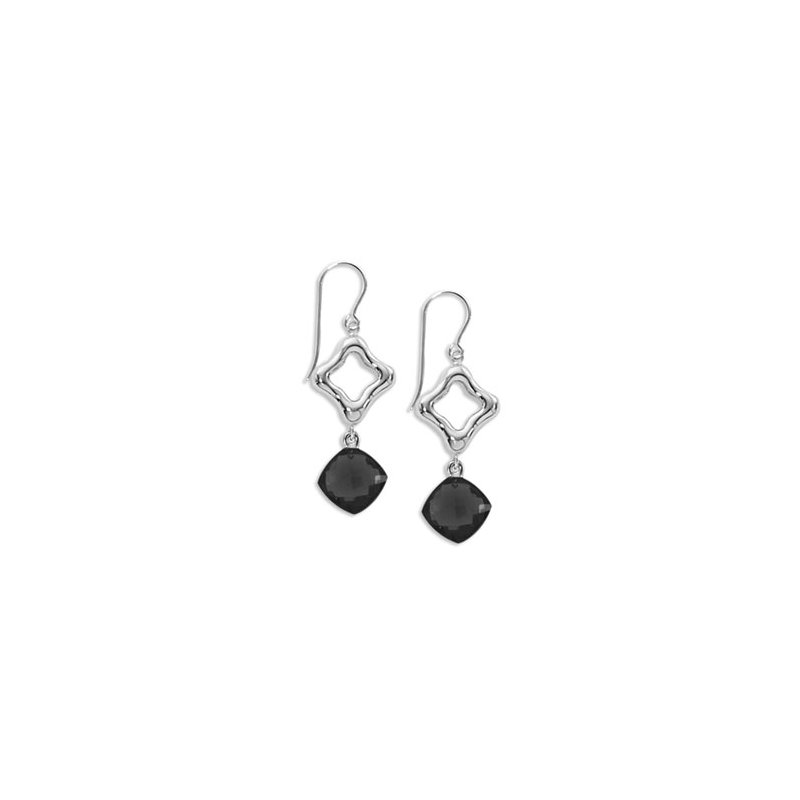 What's On Sale? Open Frame with Onyx Drop earrings