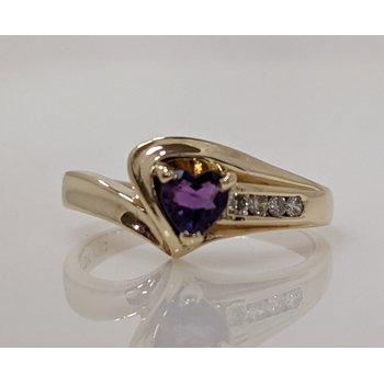 Amethyst and Diamond Ring
