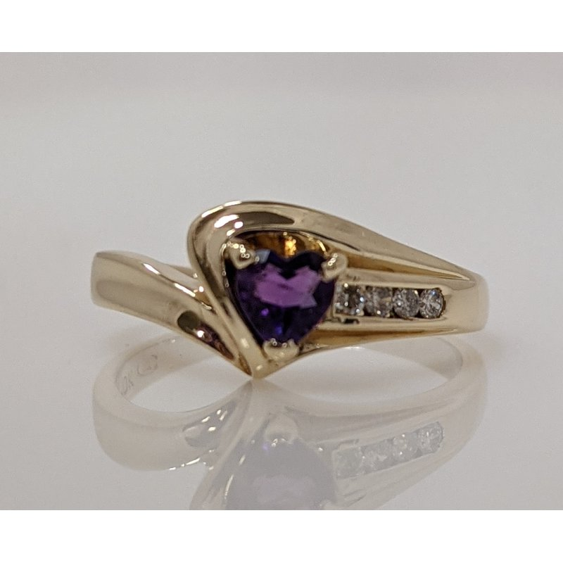Estate Specials Amethyst and Diamond Ring
