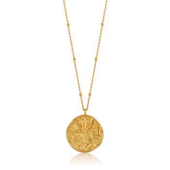 """14k Platedf Greek Warrior Necklace 31"""""""