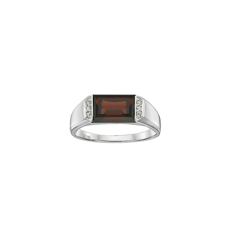 Showcase Collection Garnet Ring with Diamond Accents