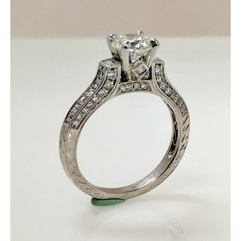 Platinum Semi-set Engagement Ring