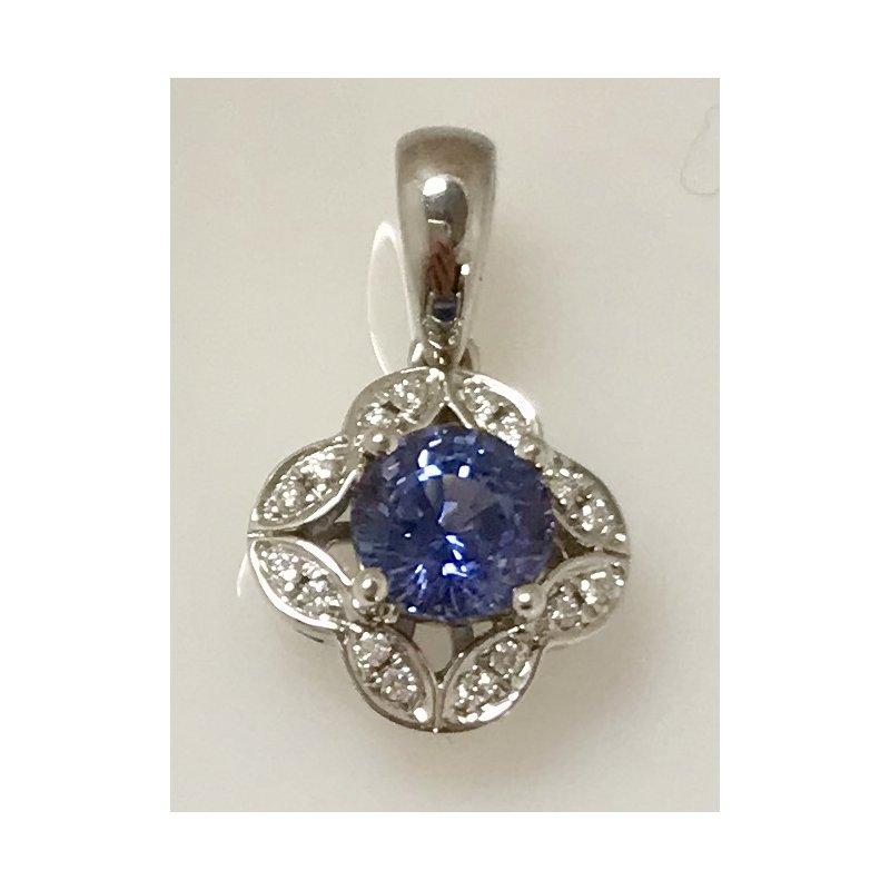 Showcase Collection Sapphire and Diamond Pendant