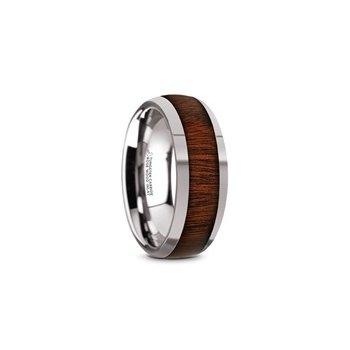 Titanium Band with Wood Inlay