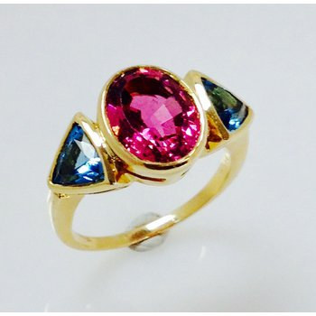 Tourmaline and Topaz Estate ring