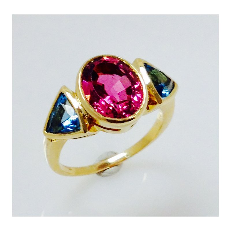 Estate Specials Tourmaline and Topaz Estate ring
