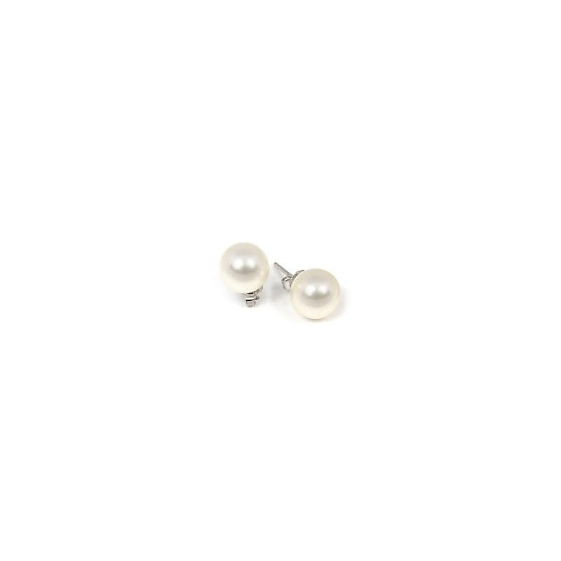 Showcase Collection Sterling Silver Pearl Stud Earrings