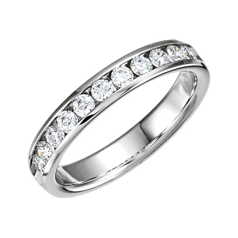 Showcase Collection 14KW Channel Set Diamond Band