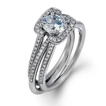 18KW Semi Set Diamond Ring and Jacket