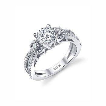 18KW Semi Set Engagement Ring