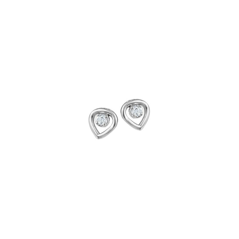 Fire and Ice 10KW Diamond Earrings