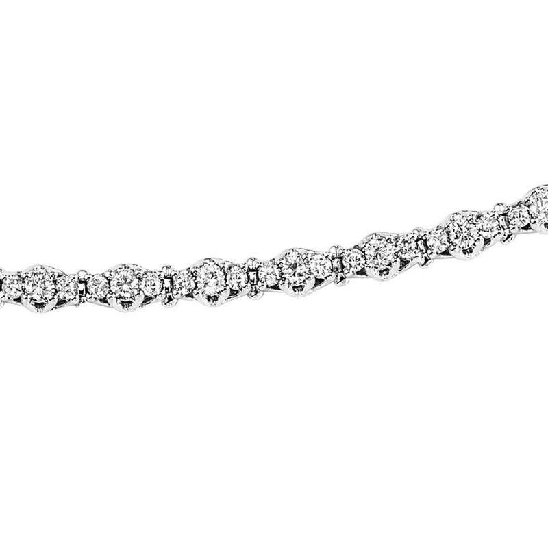 Grandis Signature Diamond Tennis Bracelet in 14K White Gold 5 ctw SB948-5ct