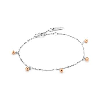 Sterling Bracelet with Rose Gold Plated Accents