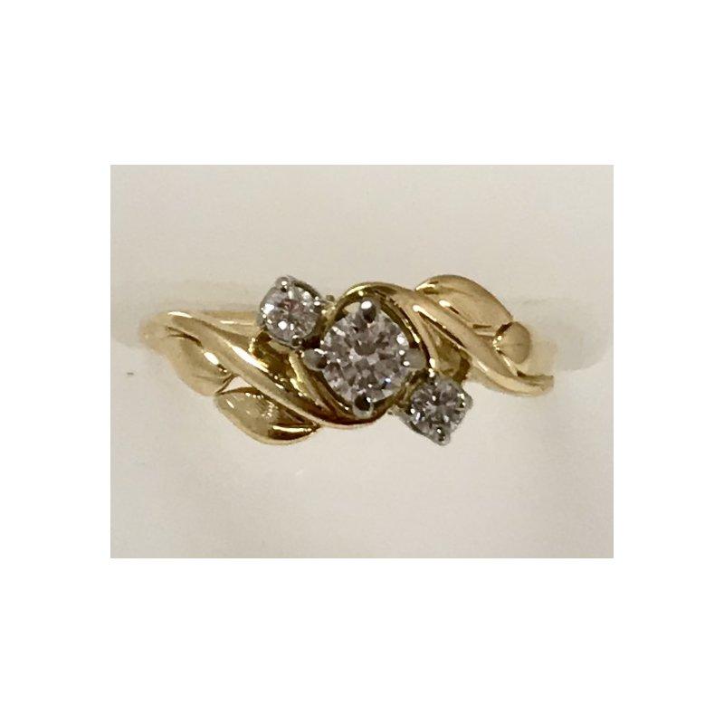 "Estate Specials 18KY ""Birk's"" Diamond Ring"