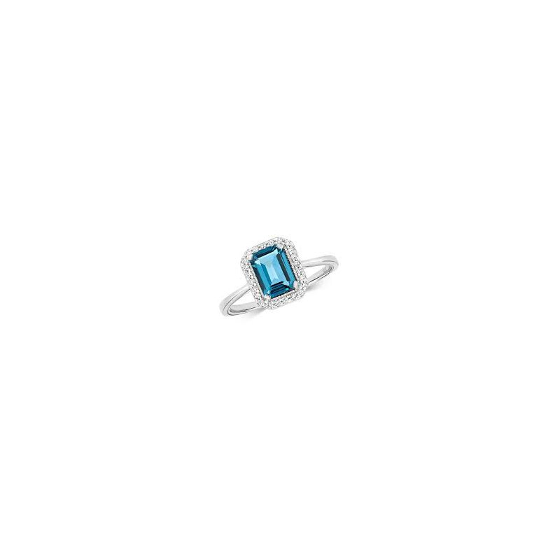 Showcase Collection London Blue Topaz Ring