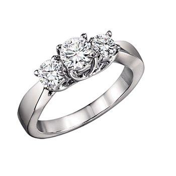 1/4 ctw Three Stone Diamond Ring in 14K White Gold/3C355